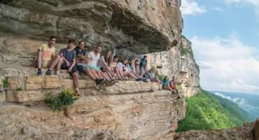 Осмотр водопадов, Орлиной полки и Монаховой пещеры
