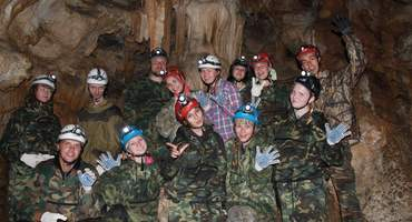 Исследование пещер Красивая, Пикетная и Сухая.